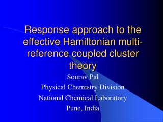 Response approach to the effective Hamiltonian multi-reference coupled cluster theory