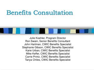 Benefits Consultation