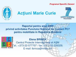 Acţiuni Marie Curie