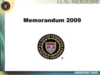 Memorandum 2009