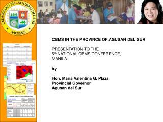 Establishment of CBMS in Agusan del Sur
