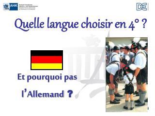 Quelle langue choisir en 4° ?