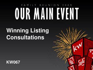 Winning Listing Consultations