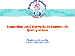 Supporting Local Networks to Improve Air Quality in Asia