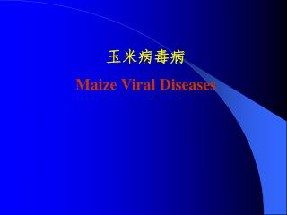 ????? Maize Viral Diseases
