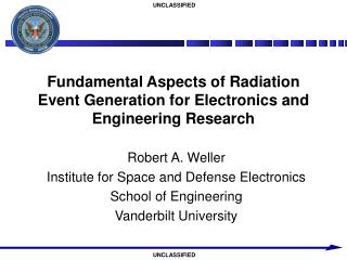 Fundamental Aspects of Radiation Event Generation for Electronics and Engineering Research