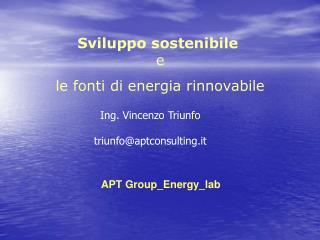 Sviluppo sostenibile  e le fonti di energia rinnovabile