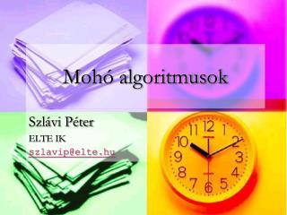 Mohó algoritmusok