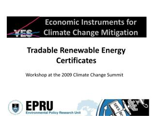 Economic Instruments for Climate Change Mitigation