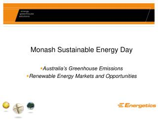 Monash Sustainable Energy Day Australia's Greenhouse Emissions