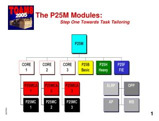 The P25M Modules: Step One Towards Task Tailoring