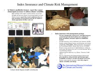 Index Insurance and Climate Risk Management