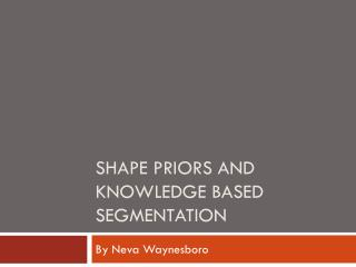Shape Priors and Knowledge Based Segmentation