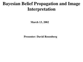 Bayesian Belief Propagation and Image Interpretation