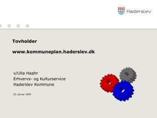 Tovholder  kommuneplan.haderslev.dk
