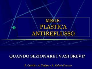 MRGE: PLASTICA ANTIREFLUSSO