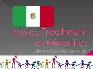 Mexico:  Treatment of Minorities