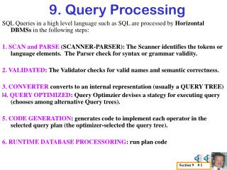 9. Query Processing