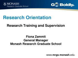 Research Orientation