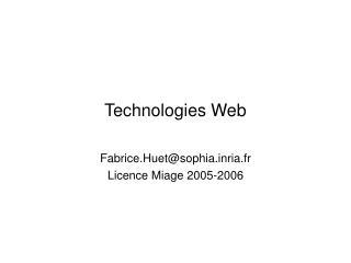 Technologies Web
