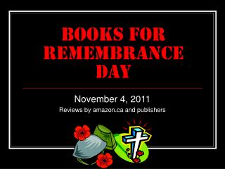 Books for Remembrance Day