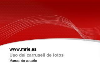 mrie.es Uso del carrusell de fotos