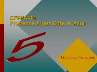 CFPPA de  Provence Alpes Côte d'Azur