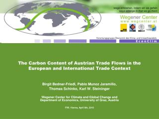 The Carbon Content of Austrian Trade Flows in the European and International Trade Context