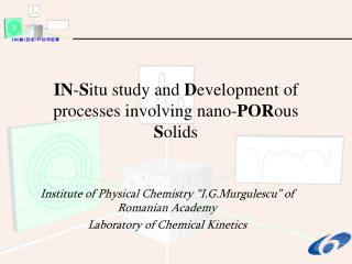 IN - S itu study and  D evelopment of processes involving nano- POR ous  S olids