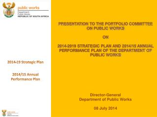 2014-19 Strategic Plan 2014/15 Annual Performance Plan