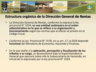 Estructura orgánica de la Dirección General de Rentas