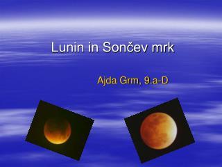 Lunin in Sončev mrk