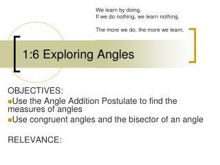 1:6 Exploring Angles