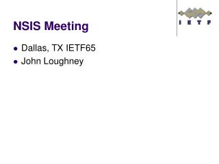 NSIS Meeting