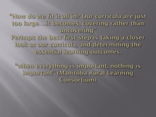 What is essential learning?