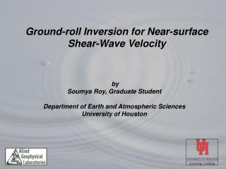 Ground-roll Inversion for Near-surface Shear-Wave Velocity