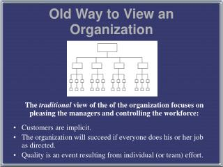 Old Way to View an Organization