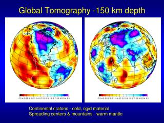 Global Tomography -150 km depth