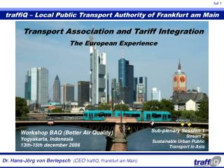 traffiQ – Local Public Transport Authority of Frankfurt am Main