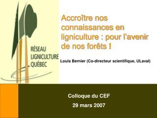Accroître nos connaissances en ligniculture : pour l'avenir de nos forêts  !