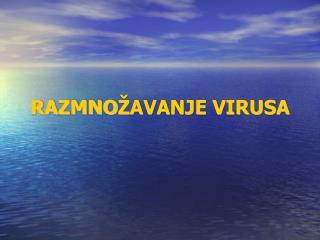 RA Z MNO ŽAVANJE VIRUSA