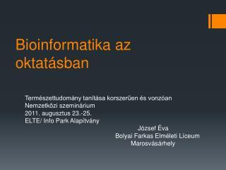 Bioinformatika a z oktatásban