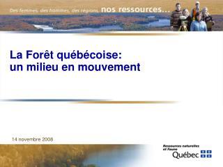 La Forêt québécoise: un milieu en mouvement