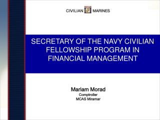 SECRETARY OF THE NAVY CIVILIAN FELLOWSHIP PROGRAM IN FINANCIAL MANAGEMENT