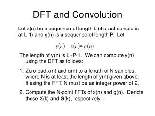 DFT and Convolution