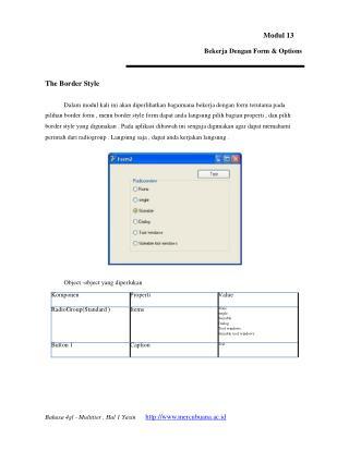 Modul 13 Bekerja Dengan Form & Options The Border Style