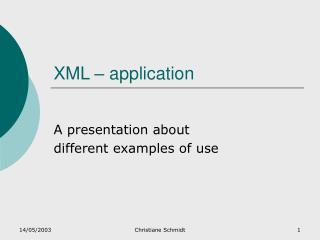 XML – application