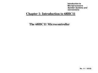 Chapter 1: Introduction to 68HC11