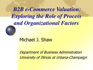 B2B e-Commerce Valuation: Exploring the Role of Process and Organizational Factors