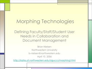 Morphing Technologies